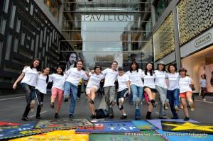 May 25th was International Tap Dance Day! With the Rhythm Tappers @ Malaysia flash mobbers outside Pavilion. Photo by James Quah Dance Photography.