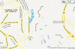 Most people know the TTDI park (or Lembah Kiara park), but here's where it is, for reference, just in case...