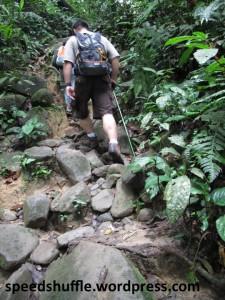 Going uphill towards the Langat Dam and Kem Lolo.