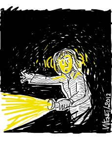 How well can you see in the wee hours of the morning? (Comic iPad-drawn by yours truly)