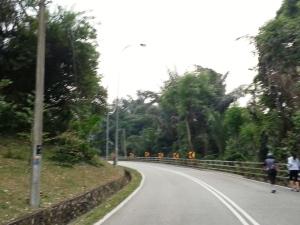 The beginning of Jalan Tun Ismail