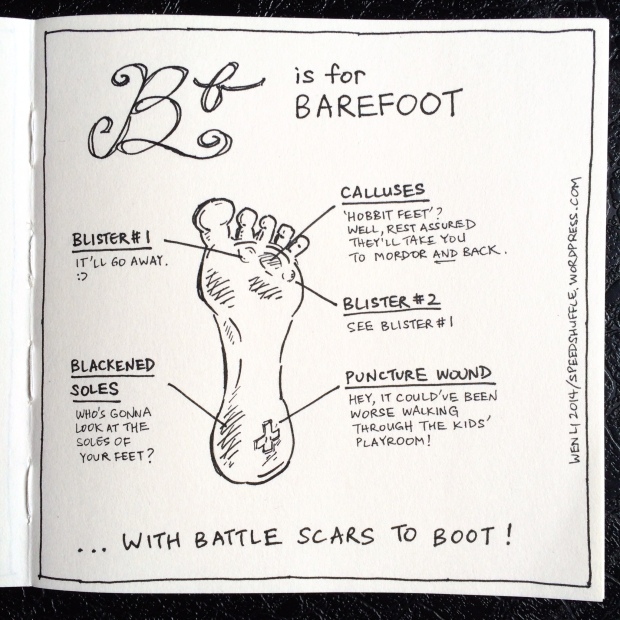 B is for Barefoot!
