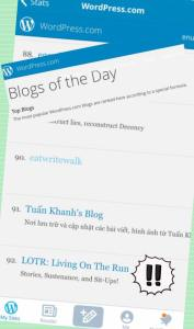 We got onto WordPress' 'Blog of the Day' list!