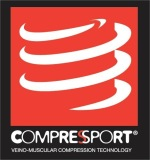Wen Li wears Compressport
