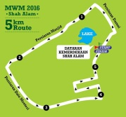 The MWM 2016 5K Route (Source: MWM website as at 20 Jan 2016. Please check MWM's website and Facebook pages in case of updates to the route.)