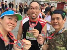 With running group pals Victor and Shoon Hooi