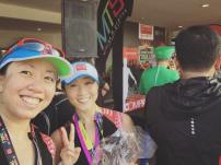 With fellow Compressport ambassador Lorna, 3rd place trail runner extraordinaire!