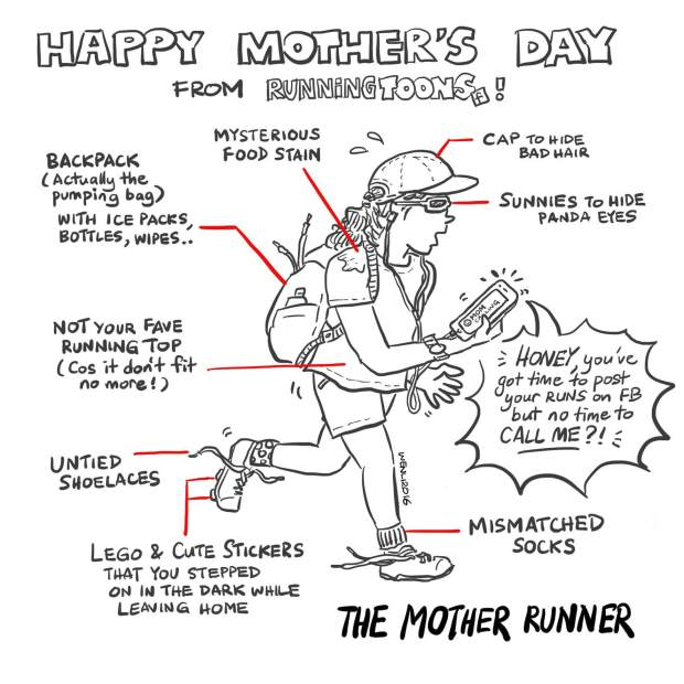 Mother Runner (by Chan Wen Li for Running Toons)